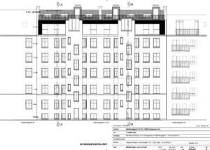 Arkitekttegning af tagboliger på Nørrebro